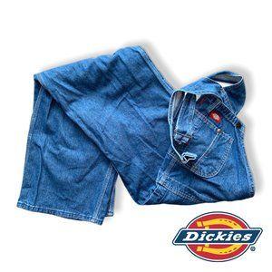 Dickies Men's Denim Stone Washed Bib Overalls